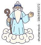 mountain god. korean god who...   Shutterstock .eps vector #1865455372