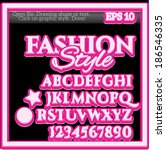 fashion graphic style for... | Shutterstock .eps vector #186546335