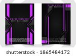 abstract futuristic cover a4... | Shutterstock .eps vector #1865484172