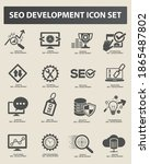 seo search engine vector icon... | Shutterstock .eps vector #1865487802