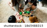 japanese family playing with... | Shutterstock . vector #1865488315