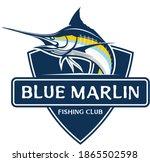 Blue Marlin Fishing Logo. A...