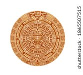 mayan calendar vector ancient...   Shutterstock .eps vector #1865507515