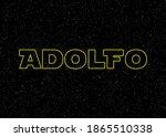 ilustraci n con nombre... | Shutterstock . vector #1865510338
