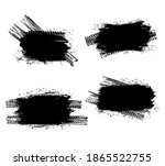 tire prints black spots  car... | Shutterstock .eps vector #1865522755