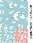 set of seamless pattern of... | Shutterstock .eps vector #186552335