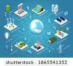 innovative 3d green... | Shutterstock .eps vector #1865541352