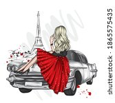 beautiful girl in stylish... | Shutterstock .eps vector #1865575435