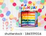 colorful sweets for kids... | Shutterstock . vector #186559316