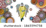 essential workers concept.... | Shutterstock .eps vector #1865594758