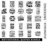 motivational quotes bundle.... | Shutterstock .eps vector #1865632462