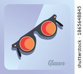 glasses of round frame with...   Shutterstock .eps vector #1865648845