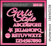 girls graphic style for design.  | Shutterstock .eps vector #186565238