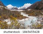 Himalaya Mountains And Stream...