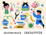 back to school collection of... | Shutterstock .eps vector #1865659558
