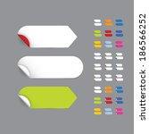 realistic vector stickers  ... | Shutterstock .eps vector #186566252