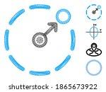 vector wire frame circular area ...   Shutterstock .eps vector #1865673922