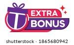 extra bonus modern banner...   Shutterstock .eps vector #1865680942
