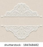 abstract decoration  lace frame ...   Shutterstock .eps vector #186568682
