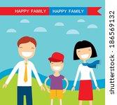 happy family members  parents... | Shutterstock .eps vector #186569132