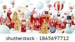 christmas greetings design...   Shutterstock .eps vector #1865697712