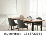conference room interior with...   Shutterstock . vector #1865723968