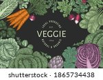 hand drawn vintage color... | Shutterstock .eps vector #1865734438