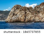 Stone Rock On The Coast Of The...