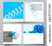 vector layout of two covers... | Shutterstock .eps vector #1865741785