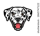 dalmatian dog   isolated vector ... | Shutterstock .eps vector #1865747122
