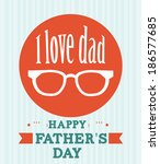 fathers day design over ... | Shutterstock .eps vector #186577685