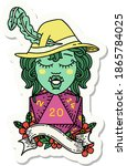 sticker of a singing half orc... | Shutterstock .eps vector #1865784025