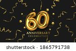 60th anniversary celebration....   Shutterstock .eps vector #1865791738