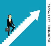 businessman walking on...   Shutterstock .eps vector #1865793052