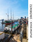 hamburg  germany   march 09  st ... | Shutterstock . vector #186580652