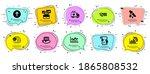 science icons set. speech...   Shutterstock .eps vector #1865808532
