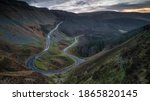 A Hairpin Bend In A Steep...