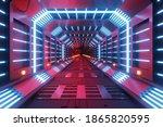 sci fi futuristic techno neon... | Shutterstock . vector #1865820595