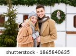 Winter Couple. Portrait Of...
