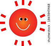 funny smiling sun tropical...