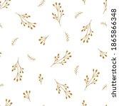 gold floral chrisrmas pattern.... | Shutterstock .eps vector #1865866348