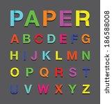 paper alphabet text | Shutterstock .eps vector #186588008