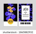 discount voucher design  front... | Shutterstock .eps vector #1865882932