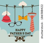 fathers day design over... | Shutterstock .eps vector #186588422