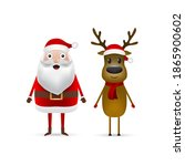 christmas santa claus and... | Shutterstock . vector #1865900602