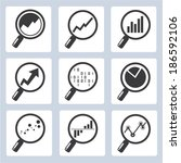 analytics icons  magnifier... | Shutterstock .eps vector #186592106