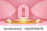 3d rendering pink abstract... | Shutterstock . vector #1865930878