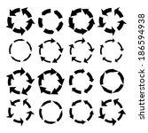 arrow symbols vector... | Shutterstock .eps vector #186594938