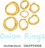 onion rings icon vector clipart.... | Shutterstock .eps vector #1865954008