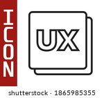 black line ui or ux design icon ...